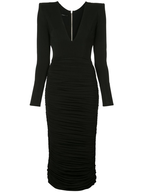 Item - Black Plunging Long Night Out Dress Size 8 (M)