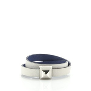 Item - Hermès White Medor Infini Double Wrap Leather Bracelet