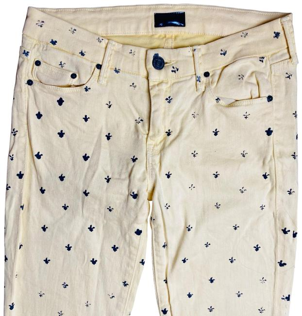 Item - Yellow Light Wash Mid-rise Leg Skinny Jeans Size 2 (XS, 26)