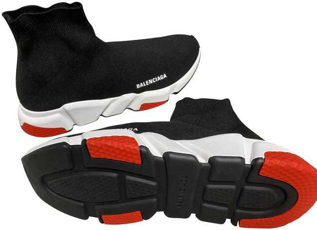 Item - Black White Red Speed Tricolor In Knit and Sole Sneakers Size US 10 Regular (M, B)