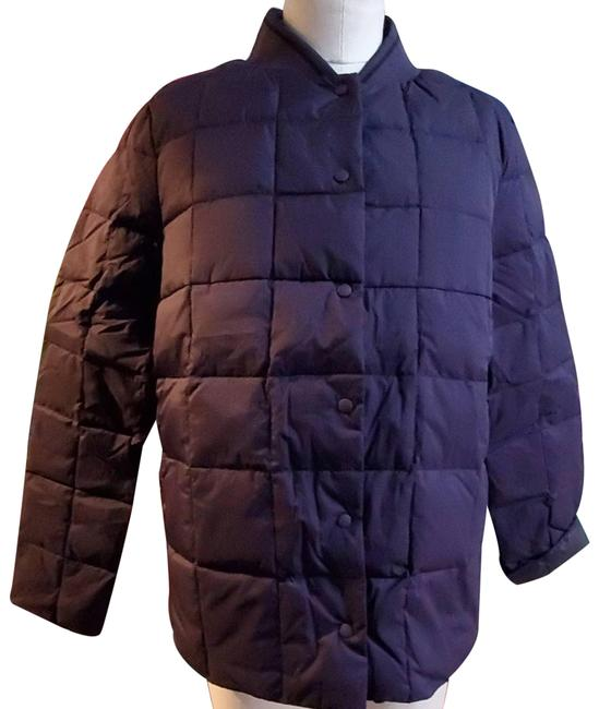 Item - Purple Solid Puffer Down Jacket Large New Coat Size 14 (L)