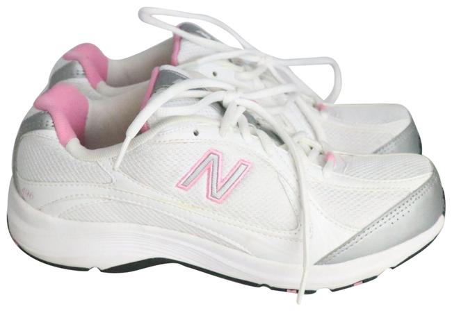 Item - White/Gray/Pink Running Sneakers Size US 8.5 Wide (C, D)