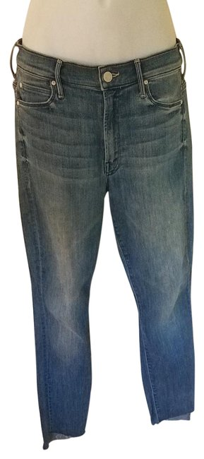 Item - Blue Medium Wash Ankle Step Relaxed Fit Jeans Size 26 (2, XS)