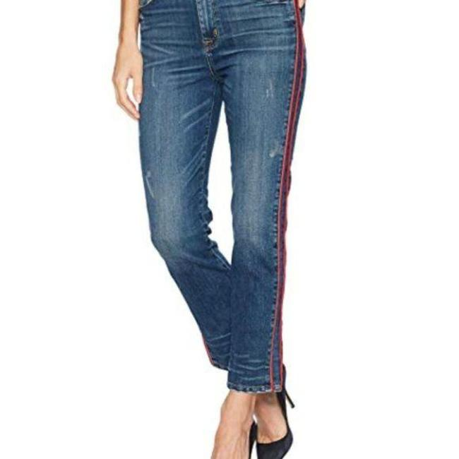 Item - Blue Red Custom Zoeey High Rise Ankle Straight Leg Jeans Size 23 (00, XXS)
