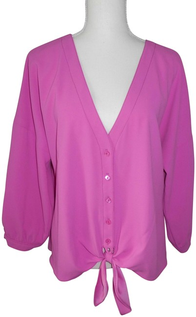 Item - Pink Utopia Tie-waste 3/4 Sleeves Blouse Size 14 (L)