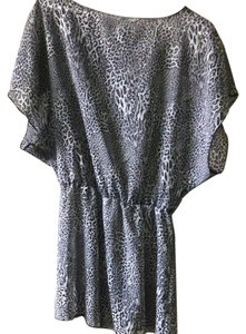 Miken Sheer Animal Print Cover Up