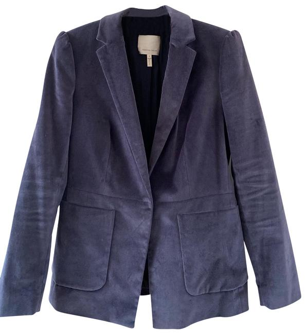 Item - Purple Stretch Velvet Blazer Size 8 (M)