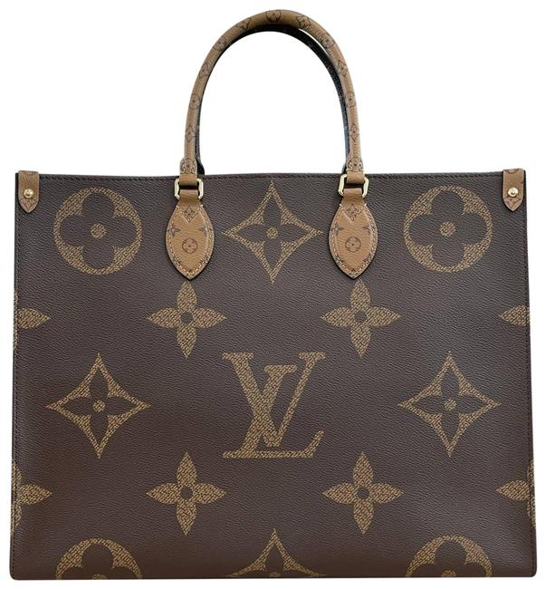Item - Onthego Bag New Giant On The Go Brown Monogram Reverse Canvas Tote
