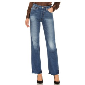 Item - Blue Medium Wash Re/Done High Rise Loose In Heritage Straight Leg Jeans