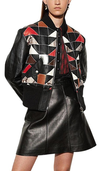 Coach Black Patchwork Ma1 Shearling Jacket Size 6 (S) Coach Black Patchwork Ma1 Shearling Jacket Size 6 (S) Image 1