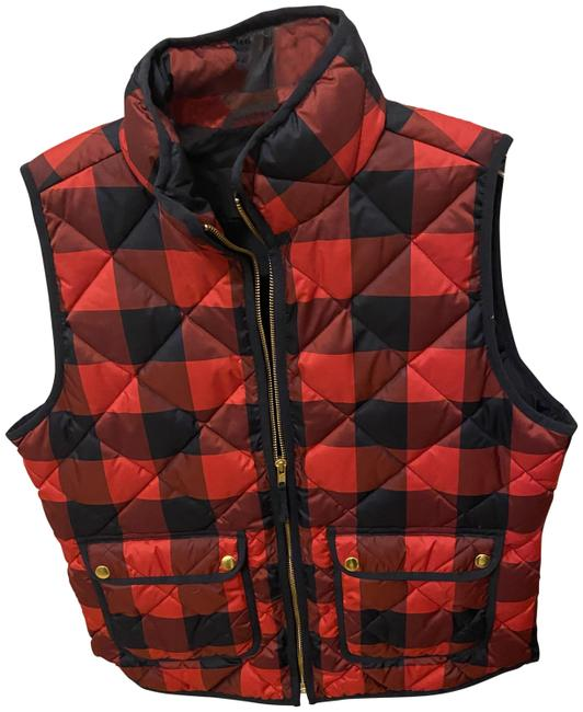 Item - Red Check Quilted Vest Size 8 (M)