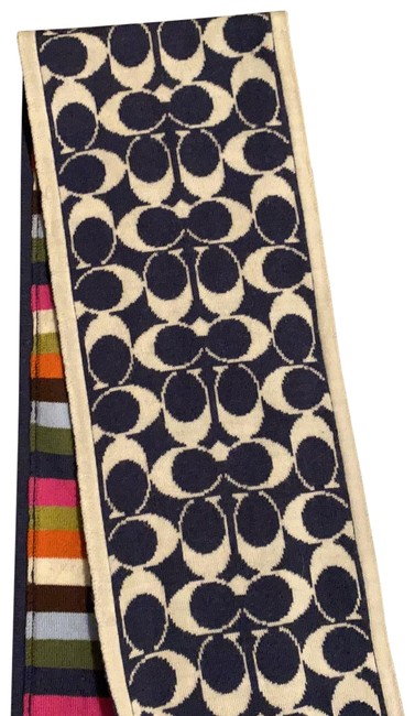 Item - Blue/White and Multi Color Merino Wool Scarf/Wrap
