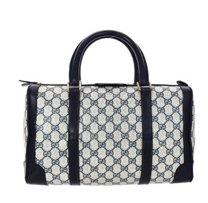 Item - Carry All Boston Vintage Top Handle Blue Supreme Gg Monogram Canvas Leather Tote