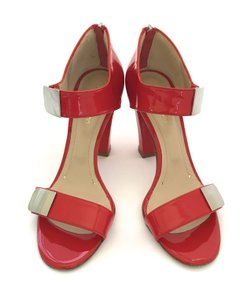 Vanessa Bruno Pumps Patent Leather Strappy Heels Red Sandals