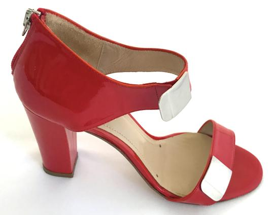 Vanessa Bruno Pumps Patent Leather Strappy Red Sandals