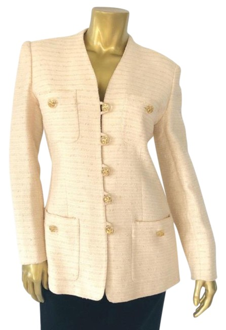 Item - Cream Vintage Miss Blazer Size 8 (M)