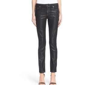 Item - Coated Wax In Blu Scuro Skinny Jeans