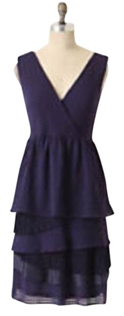 Item - Purple Ric Rac Tiered Skirt Party Short Cocktail Dress Size 4 (S)