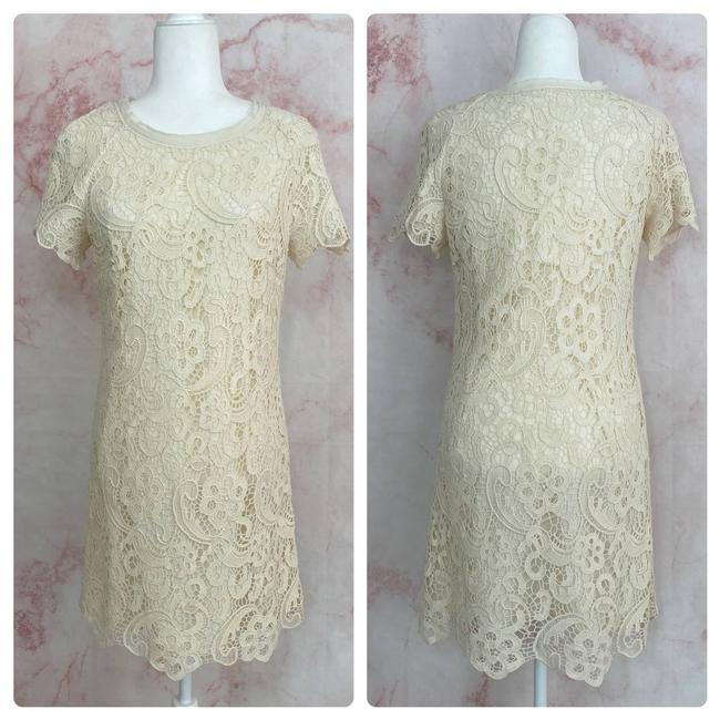 Zara White Ivory Lace - M Mid-length Cocktail Dress Size 8 (M) Zara White Ivory Lace - M Mid-length Cocktail Dress Size 8 (M) Image 1