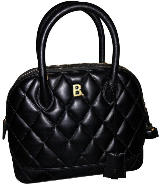 Item - Top Handle Bag Small Ville Black Quilted Leather Baguette