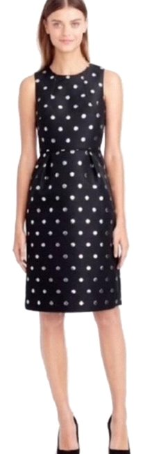 Item - Black and Silver Polka Dot Mid-length Cocktail Dress Size 0 (XS)