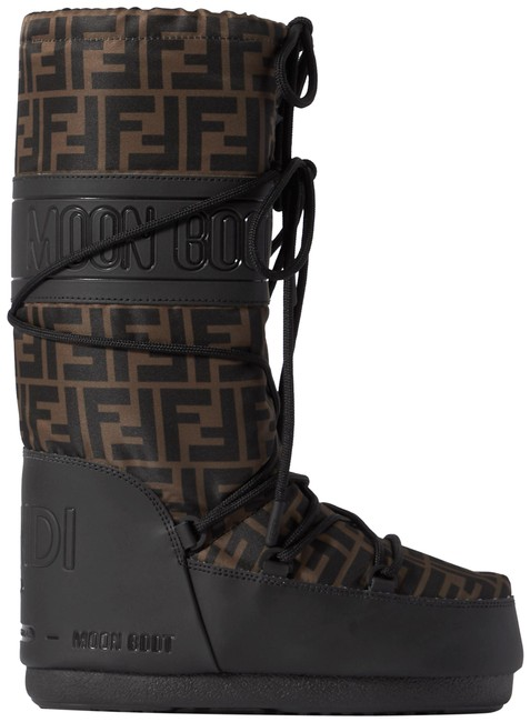 Item - Black/Brown Printed Shell and Rubber 39-41 Boots/Booties Size EU 40 (Approx. US 10) Regular (M, B)