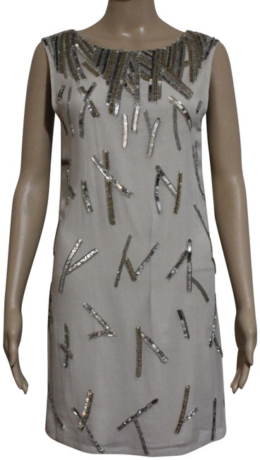 Item - Silver/Gold Sequin Shift Short Night Out Dress Size 2 (XS)