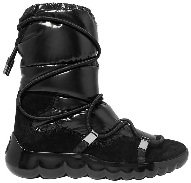 Item - Black Ski Cora Suede-trimmed Quilted Shell Ankle Boots/Booties Size EU 36.5 (Approx. US 6.5) Wide (C, D)