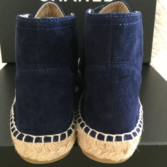 Chanel Navy Blue Boots