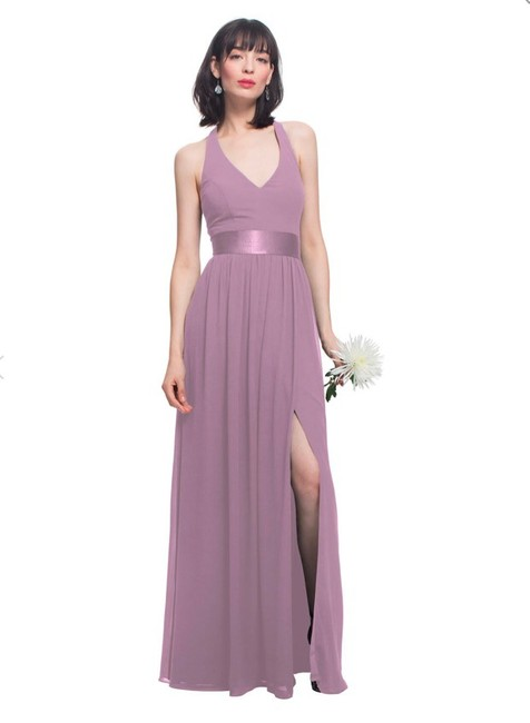 Item - Wisteria (Dusty Mauve) Chiffon Style 1460 In Modern Bridesmaid/Mob Dress Size 0 (XS)