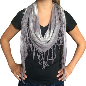 PacSun Grey & White Scarf