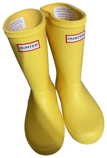 Item - Yellow Toddler Boots/Booties Size US 10 Regular (M, B)