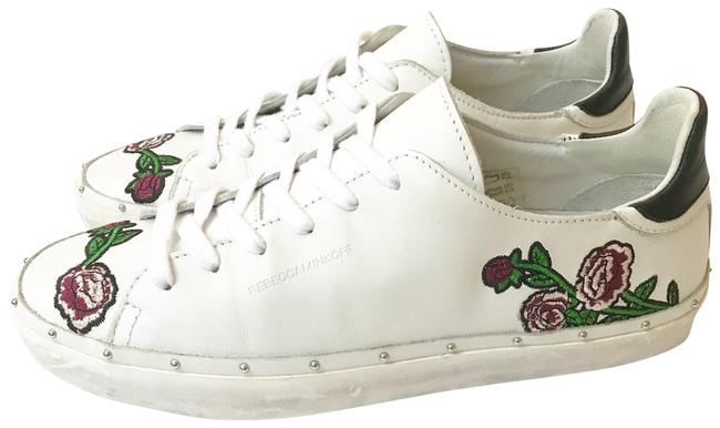 Item - White Michell Studded Sneakers Size US 8 Regular (M, B)