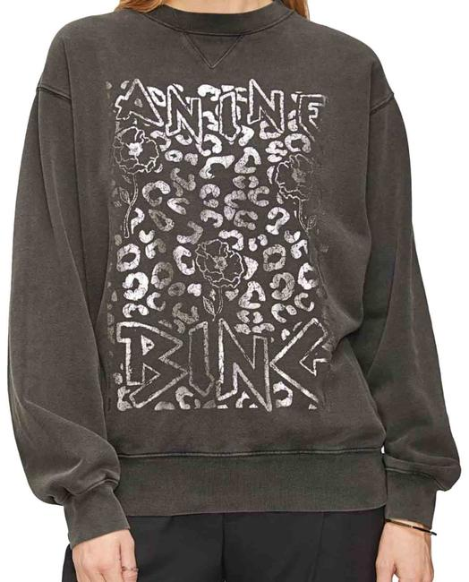 Item - Faded Black and Silver Sweatshirt/Hoodie Size 2 (XS)