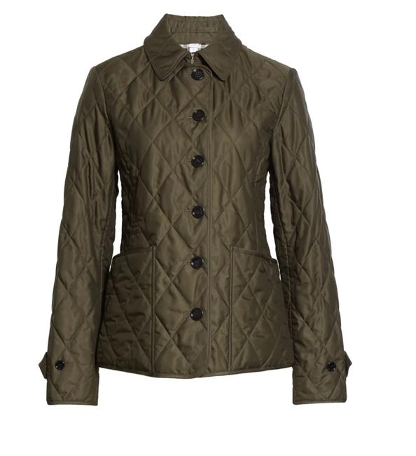 Item - Dark Olive Fernleigh Thermoregulated Diamond Quilted Jacket Size 4 (S)
