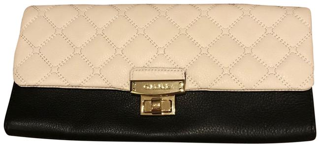 Item - Geneva Quilted Black and Off White Leather Clutch
