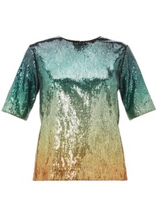 Item - 8 Sequined Tee-shirt Ombre Multiple Top