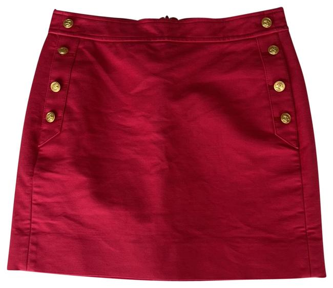 Item - Red With Pockets Skirt Size 00 (XXS, 24)