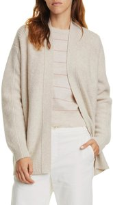 Item - H Dove Oat Ribbed Open Front Wool Blend Cardigan