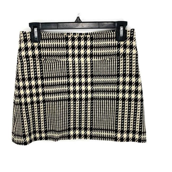 Item - Brown Cream Houndstooth Wool Skirt Size 2 (XS, 26)