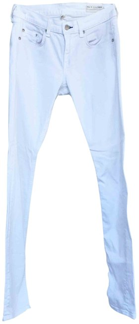 Item - White Light Wash The Dre Low-rise Bright Skinny Jeans Size 26 (2, XS)
