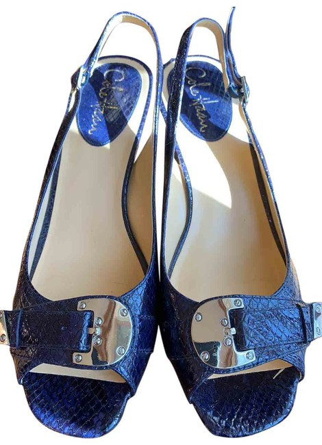 Item - Blue with Violet Undertone Pumps Size US 8 Regular (M, B)