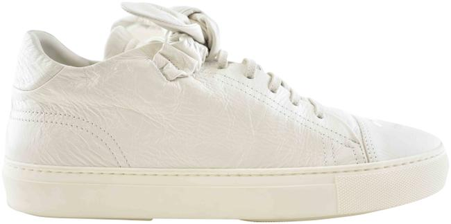 Item - White 19b Crumpled Calfskin Bow Cc Logo Lace Up Low Top Trainer Sneakers Size EU 41 (Approx. US 11) Regular (M, B)