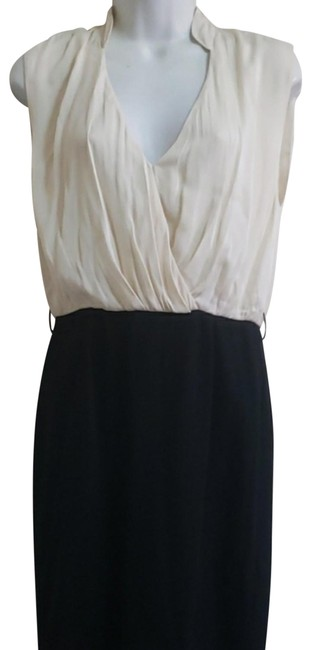 Item - Ivory and Black Employed Short Casual Dress Size 6 (S)