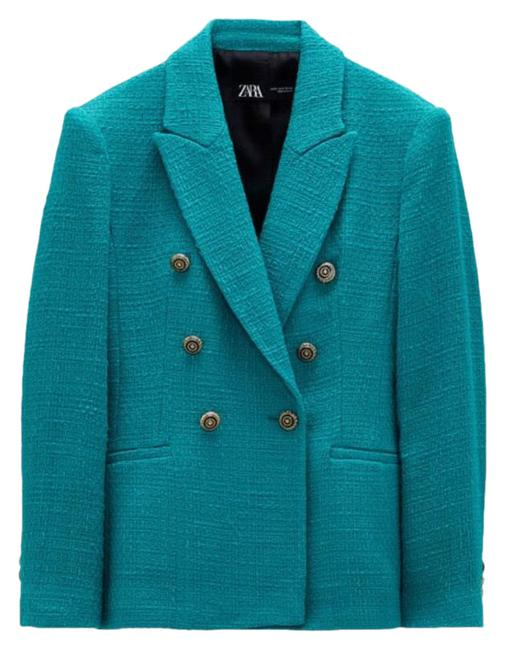 Item - Emerald Green Favorite Tailored Double Breasted Blogger's Blazer Size 6 (S)