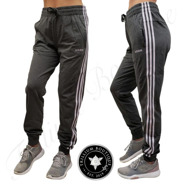 Item - Gray/Purple Women's 3 Striped French Terry Joggers New with Tags Activewear Bottoms Size 12 (L, 32, 33)