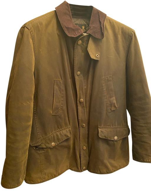 Item - Olive Green Waxed Cotton Jacket Size 12 (L)