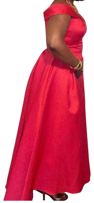 Item - Red Evening Ball Gown Long Night Out Dress Size 10 (M)