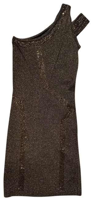 Item - Gold Bodycon Short Night Out Dress Size 0 (XS)