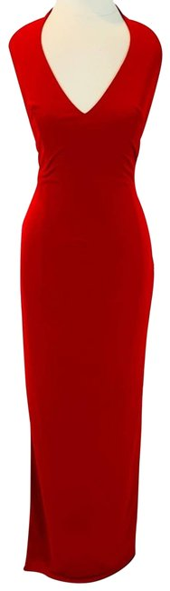 Item - Red With Rhinestone Back Formal Dress Size 2 (XS)